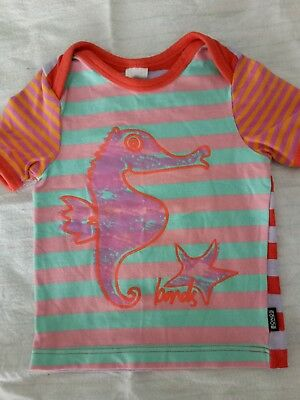 BONDS baby girls tshirt Seahorse picture Size 00