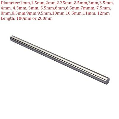 1mm-12mm HSS Steel Round Rod Bar Shaft Axie Metal 100mm-200mm Long Metalworking