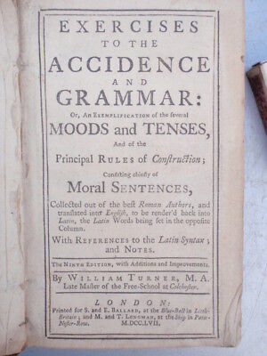 """1757"" Grammar  Book ........ 260 Years Old"""