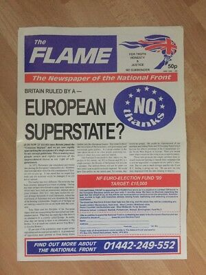 The Flame Newspaper Of The National Front NF (British National Party BNP) 1997