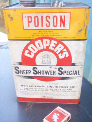 "Cooper's  sheep Shower Special"" Tin 1 gallon"