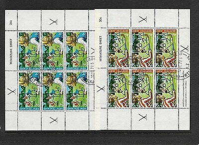 New Zealand 1971 Fine Used Miniature Sheets CV £45