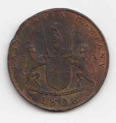 1808 East India Company X Cash Coin (Taboo) ok for its age Take a look 2