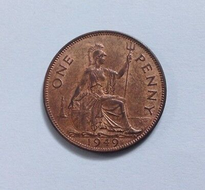 1949 King George VI One Penny with lustre EF Condition