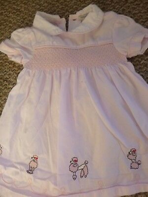 Baby girls dress, cute poodles motifs age 3-6 months