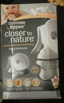 Tommee Tippee Closer To Nature Manual Breast Pump, New