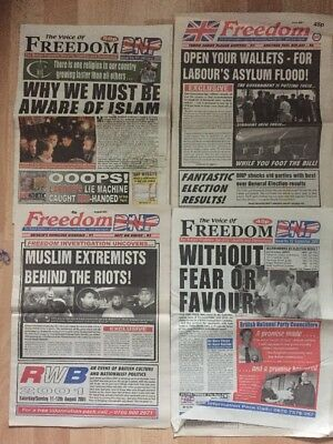 4 Voice Of Freedom BNP Newspapers British National Party National Front NF