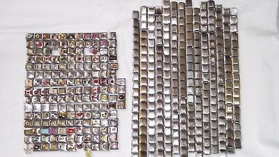 Italian Charms Lot. Over 500 pieces. Bracelet links.  #261