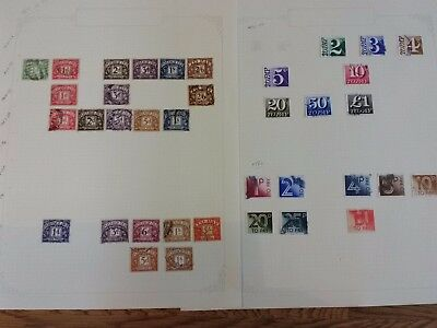Collection Job Lot GB Postage Due Labels 1924-82