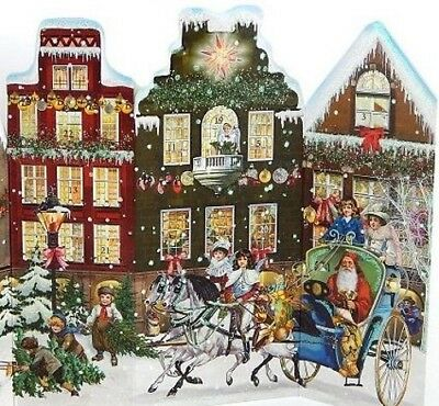Victoriana CHRISTMAS AROUND THE TOWN ADVENT CALENDAR CARD Coppenrath Germany