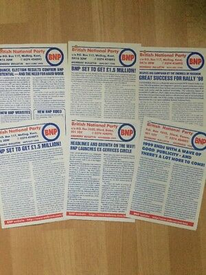 BNP British National Party Members Bulletins 1998/99