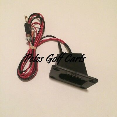 EZGO Golf Cart 36V 36 voltPowerWise Charger Receptacle Cart Side Wired w/ Fuse
