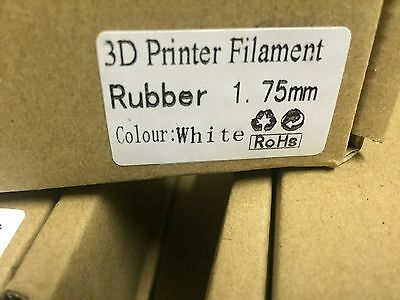 1kg WHITE Rubber 'TPU' 1.75mm 3D Printer Filament *NP3D* AU STOCK