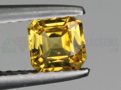 Ceylon Yellow Sapphire 0.52ct VS Octagon Loose Natural Gemstone 4.8x4.8mm (5x5mm