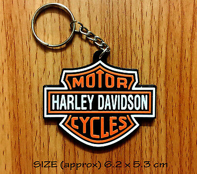 Harley Davidson Logo Key chain Rubber Motorcycles Key ring Collectible Gift New