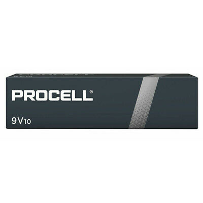 10 x Duracell 9V PP3 Industrial Procell Batteries, Smoke Alarm, LR22 BLOC MN1604