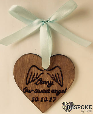 Memorial Keepsake Heart Personalised Infant Loss Angel Baby Miscarriage Remember
