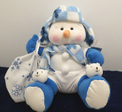 Christmas Baby Snowman Stuffed Animal by Kids Touch