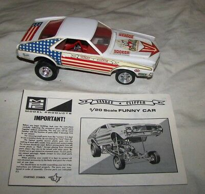 Mpc Yankee Clipper 1969 Amc Amx Funny Car Model Kit Large 1/20 Scale Built-Up