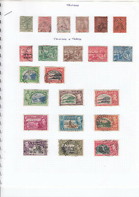TRINIDAD & TOBAGO COLLECTION on 2 album pages - mint & used