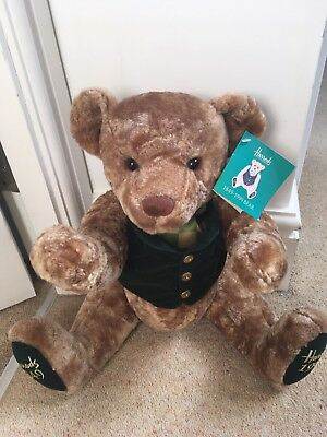 LOVELY Harrods  150 Years Anniversary Jointed Teddy Bear 1849 - 1999 with tags