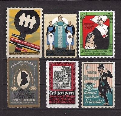 Cinderella Stamps x 6 From 1912.