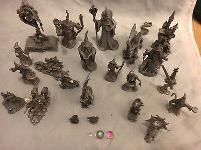 Pewter Wizards Dragons Large Lot Spoontiques Rawcliffe Small