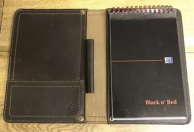 Saddleback Leather Company Small Notepad - Dark Coffee Brown, Good Condition.