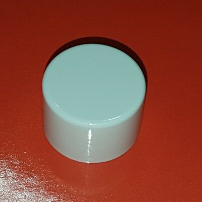 White replacement knob for push on/off and turn 2 way dimmer switch