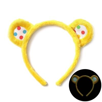 New 2017 Children In Need Pudsey Ears Headband Glow In The Dark