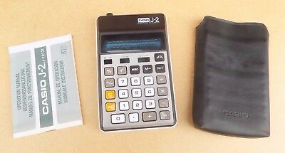 Vintage CASIO J2 Electronic Calculator - Circa 1977