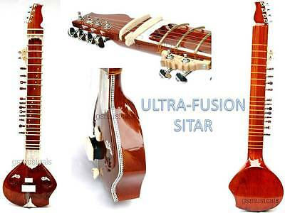 Sitar Ultrapro Natural Fusion Elecric Siatr With Fibreglass Case Gsm016