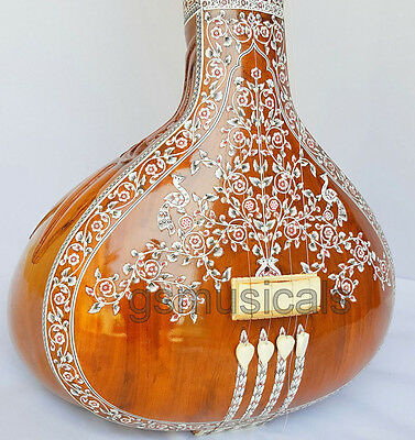 Tanpura Female Hemraj Decorated With Fibreglass Case Gsm055 Au