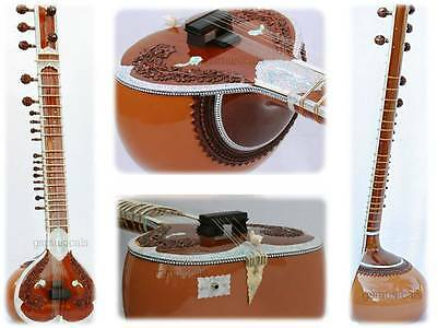 Sitar Necklace Designe With Gig Bag Sitar Gsm010
