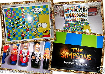 The Simpsons 3-D Chess Game Figure Century Fox Product I Simpson Orig. Scacchi
