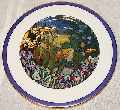 1989 Garden Sunset From Stained Glass Plate Collection, Limited Edition
