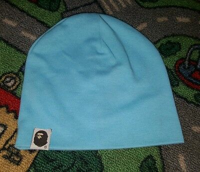 BABY BOYS Sz 0 light blue beenie CUTE!