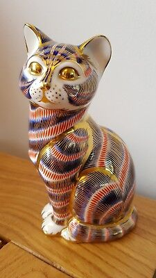 ROYAL CROWN DERBY - Cat, paperweight