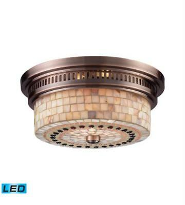 Flush Mount 2 Light LED With Antique Copper Finish 13 inch 27 W - World of Lamp