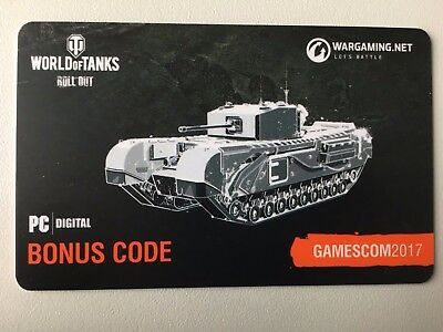 World of Tanks - Gamescom 2017 Bonus Code Churchill III + 3 Tage Premium