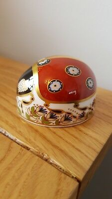 ROYAL CROWN DERBY- Ladybird paperweight