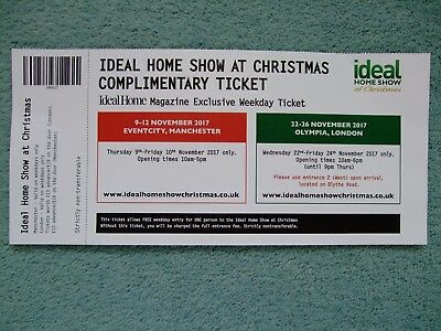 Ideal Home Show at Christmas ticket for Manchester or Olympia, London