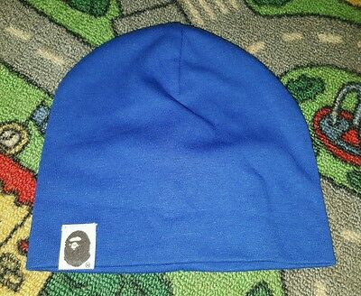 BABY BOYS Sz 0 dark blue beenie CUTE!