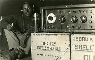 *RA350 Early RP POSTCARD Experimental Radio Grahamstown nr Mthatha, Maclear 1938