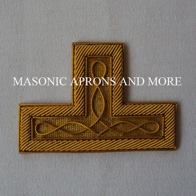 Masonic Hand Embroidered Gold Level