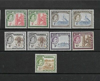 Gambia 1953 Mint Stamps