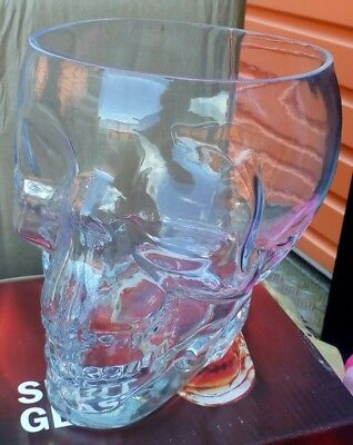skull glass great for Halloween or anything else