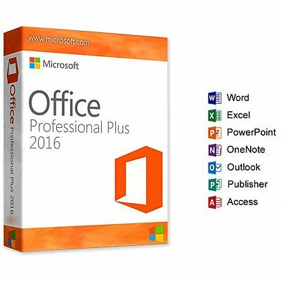 Microsoft Office Professional Plus 2016 Key Lifetime Key and Links 1 user 1 key