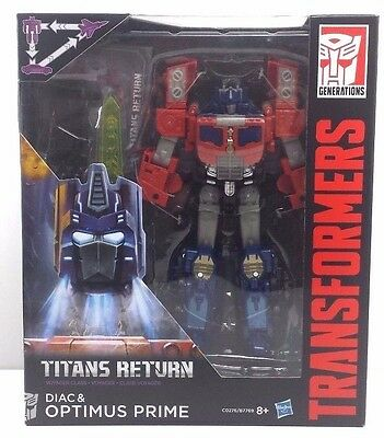 Optimus Prime and Diac Titans Return Voyager Transformer NEW (MISB)  [OPDI2]