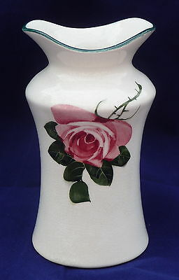 antique cabbage rose GEORGE STEWART Bristol Wemyss toothbrush bathroom  vase